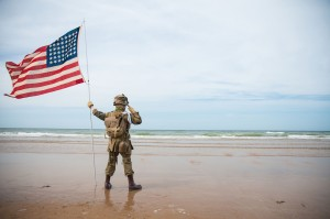 American soldiers died in mass on D-Day  to free France from Hitler's grasp.
